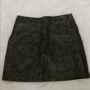 LF Green faux leather skirt